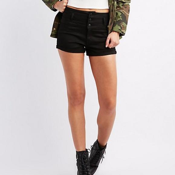 3b34613568 Charlotte Russe Shorts | Highwaist Shortie Black | Poshmark